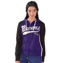 Small Women's Baltimore Ravens Hoodie NFL All World Full Zip Hooded Sweatshirt