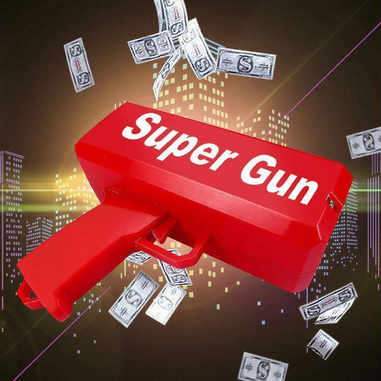 Pistol Toy Battery Operated Super Money Gun Good For Fun And Party Abs Plastics