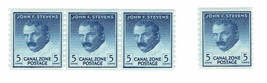 1962 John F Stevens Group of 4 Canal Zone Stamps Catalog Number 155 MNH