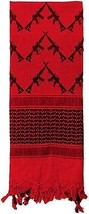 Red Crossed Rifles Shemagh Heavyweight Arab Tactical Desert Keffiyeh Scarf - £8.92 GBP