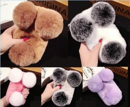 """Hot Panda Super Luxury Warm Soft Rabbit Fur Skin Cover Cases for iPhone 7 4.7"""" - $13.14"""