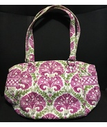 Vera Bradley Purse Shoulder Bag Handbag Purple Green White Floral Design  - $8.10