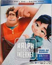 Ralph Breaks The Internet Disney Pixar Blu-ray + Dvd + Digital Code New - $11.65
