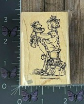 Stampin' Up! Little Girl With Teddy Bear Rubber Stamp 2000 Sick Nurse Wo... - $3.47