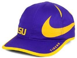 LSU Tigers NCAA Nike Big Swoosh Aerobill Adjustable Hat - $17.77