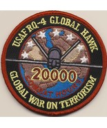 AIR FORCE RQ-4 GLOBAL HAWK 20000 WAR ON TERRORISM EMBROIDERED JACKET PATCH - $23.74