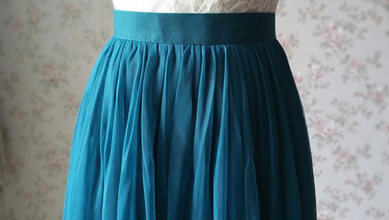 Long tulle skirt wedding green  59 6