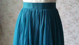 Floor Length Tulle Skirt High Waisted Wedding Bridesmaid Separate Deep Green image 6