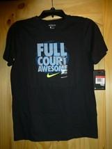 Nike Boys Active Black Short Sleeve T Shirt New Large AT2825 FULL COURT ... - $14.84