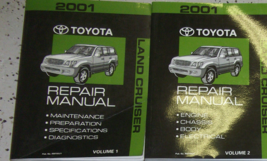 2001 toyota land cruiser service repair workshop manual set factory oem - $197.95