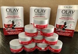 OLAY Regenerist Micro Sculpting Cream  10 Jars Travel Size .17 oz (1.7 o... - $14.83
