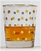8 Oak Lane EC014DOT Dot Old Fashioned Glass, 8 oz, Gold