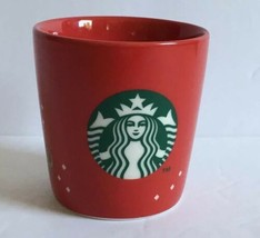 Starbucks 2013 Red Christmas Holiday Espresso Tasters  Shot Glass Cup 3 oz EUC - $13.29