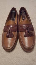 Mens Allen Edmonds Maxfield Leather Slip on Shoes Loafers with Tassels, Size 10D - $39.99