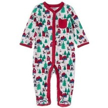 NWT Gymboree Boy's Newborn 0-3 Months Christmas Holiday Sleeper Footed P... - $12.99
