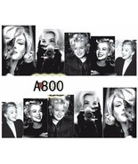 Water Transfer Watermark Art Nails Decal Sticker Marilyn Monroe A800 - $1.74
