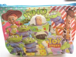 Disney Pixar TOY STORY Buzz, Woody, Jesse, Aliens Stripe Cosmetic / Make... - $8.55