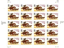 Cherokee Strip Land Run 1983, 29 cent, Full Sheet, USPS, Vintage Stamps - $7.99