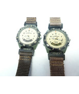 2VINTAGE TIMEX EXPEDITION INDIGLO 50 METER DIGI ANA CHRONOGRAPH ALARM WA... - $169.32
