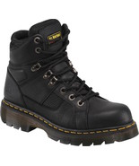 Womens Dr. Martens Ironbridge Work Boots - Black Leather, Mens 5/Womens 6 - £126.45 GBP