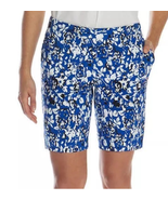 Mario Serrani Itay Comfort Stretch Tummy Control Shorts, Royal Floral, 2 - $8.80