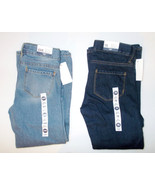 OshKosh B'Gosh Girls Boot Cut Jeans L. Blue or D. Blue Sizes 6X, 7 and 8... - $9.59