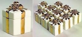 Lenox Wedding Gift Box Favor Set of 10 Memory Gold Bow Sculpted Shower G... - $95.00