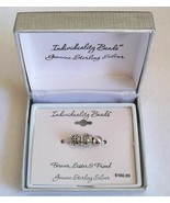 Sterling Silver Individuality Beads Charm Set of 3 - Forever Sister & Friend NEW - $34.99