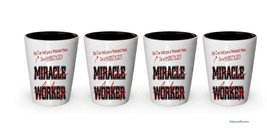 I'm Hairstylist shot glass- Not a Miracle Worker -Hairstylist Gifts (4) - $24.45