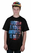 DGK Dirty Ghetto Kids Black The World Is Yours Universe Is Mine Galaxy T-Shirt
