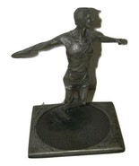 Vintage 1984 Discus Sculpture for Telephone AT & T Pewter Tone 14437 - $148.49