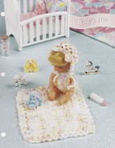 Baby's Trio, Annie's Attic Fashion Doll Crochet Pattern Club Leaflet FC47-04 - $3.95