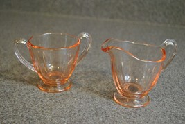 Fostoria Fairfax Pink Mini Creamer and Mini Open Sugar- Excellent Condition - $17.75