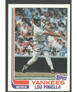 New York Yankees Lou Piniella 1982 Topps Baseball Card # 538 nr mt - $0.50