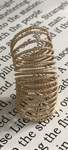 Long Spring Style Knuckle Ring Gold Cage Armor Jewelry Women Size 6 6.5 7 - $14.99