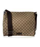 Authentic Gucci Beige Monogram Canvas Unisex Messenger Crossbody Bag - $391.05
