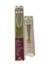 """Lot Of 2 Vintage 9"""" Skirt-Neck Metal Zipper in Ecru J&P Coats Clarks - $13.98"""