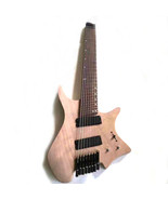 Musoo brand unfinished 8 strings fanned fret headless electric guitar - $425.69
