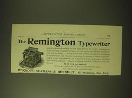 1893 Remington Typewiter Ad - The Remington Typewriter makes no pretensions  - $14.99