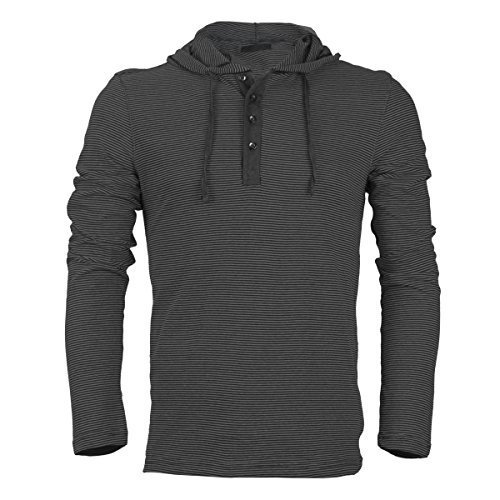 Royal Knights Men's Lightweight Slim Fit Pullover Henley Shirt Hoodie (Small, 03