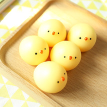 Honana Japan Mochi Yellow Chicken Squeeze Stretchy Decompress Phone Strap Access - $9.97