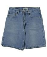 "Levi Strauss Signature Relaxed Fit Denim Shorts Men's W32 Inseam 9"" 100%... - $21.29"