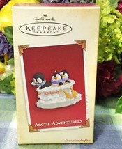Hallmark Arctic Adventurers ornament 2005 Penguins Playing in boat - $20.00