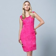Maloka: Brushed Cotton Fiji Leaf Embroidered Hourglass Dress (1 Left in ... - $98.00