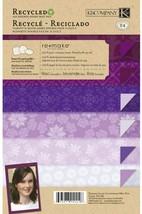 K&Company Remake Lavenders Mat Cardstock Stack, 24 Sheets