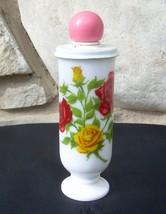 Avon Demi Demitasse Cup Mug and Lid To A Wild Rose Milk Glass Empty Vintage - $19.99