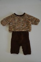 Cute Hand Knit two Piece OOAK Outfit for Bisque... - $1.99