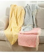 Fennco Styles Jacquard Design Throw Blanket - 3 Colors  - $49.99