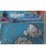 Finding Dory - Glitter Coloring Sheet with Markers - Disney / Pixar - 11... - $3.91