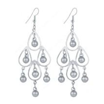 Fashion Beautiful Round Water Drop Dangle Long Earrings For Women - $13.49